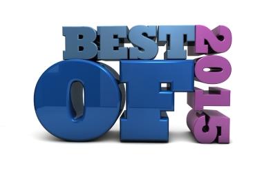 The words BEST OF 2015 rendered in 3D block typography