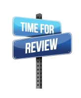 Time for Review road sign illustration design over a white background